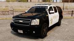 Chevrolet Suburban GTA V Blaine County Sheriff