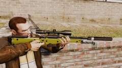 Снайперская винтовка AW L115A1 с глушителем v3 для GTA 4