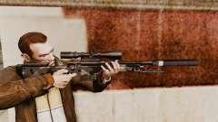 Снайперская винтовка AW L115A1 с глушителем v5 для GTA 4