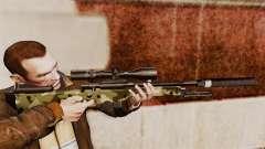 Снайперская винтовка AW L115A1 с глушителем v7