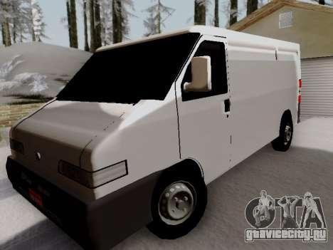 Fiat Ducato Cargo для GTA San Andreas вид сзади