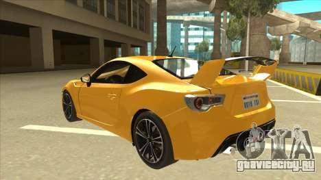TOYOTA GT86 2JZ-GTE Black Revel для GTA San Andreas вид сзади