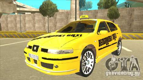 Seat Leon Belgrade Taxi для GTA San Andreas