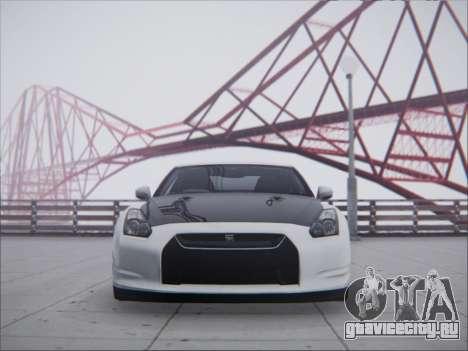 Nissan GT-R R35 Spec V 2010 для GTA San Andreas вид сзади слева