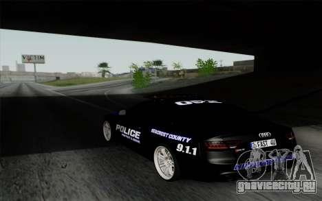 Audi RS5 2011 Police для GTA San Andreas вид слева