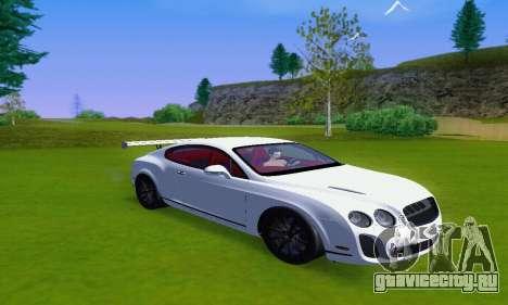 Bentley Continental Extremesports для GTA San Andreas вид сзади слева