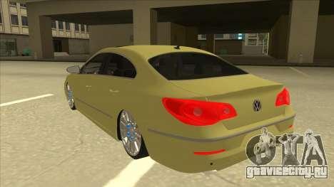 VW Passat CC для GTA San Andreas вид сзади