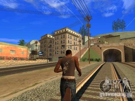 Новая майка CJ для GTA San Andreas третий скриншот