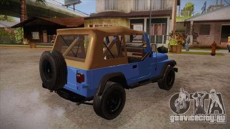 Jeep Wrangler V10 TT Black Revel для GTA San Andreas вид справа