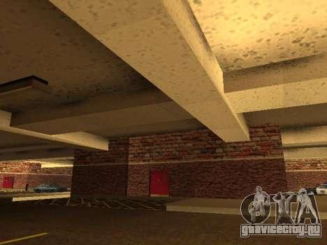 Новый интерьер подземного гаража полиции ЛС для GTA San Andreas третий скриншот