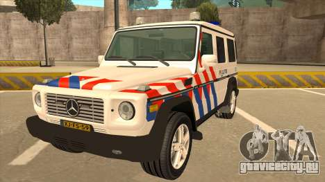European Emergency Mercedes-Benz G 2008 для GTA San Andreas