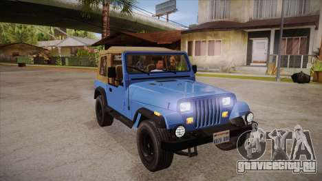 Jeep Wrangler V10 TT Black Revel для GTA San Andreas вид сзади