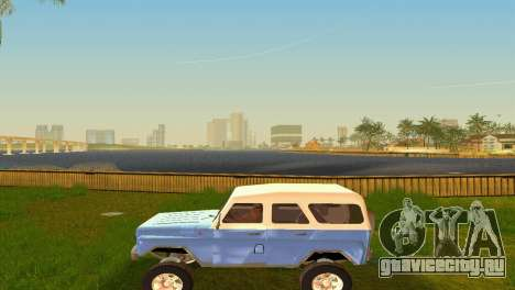 УАЗ 3151 для GTA Vice City вид изнутри