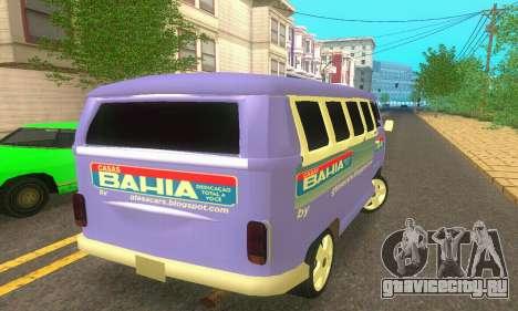 VW Kombi ESCOLAR для GTA San Andreas вид сзади слева