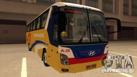 Yellow Bus Line A-29 для GTA San Andreas вид слева