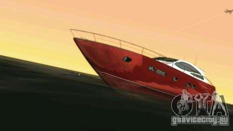 Cartagena Delight Luxury Yacht для GTA Vice City вид сзади слева