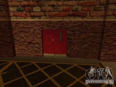 Новый интерьер подземного гаража полиции ЛС для GTA San Andreas четвёртый скриншот