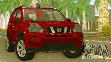 Nissan X-Trail 2009 для GTA San Andreas вид сзади
