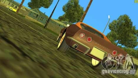 Chevrolet Corvette C3 Tuning для GTA Vice City вид сзади