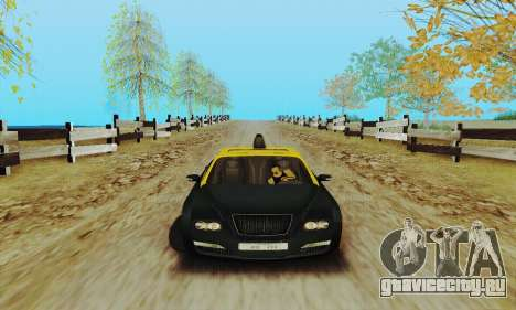 Mercenaries 2 Такси для GTA San Andreas вид сзади слева