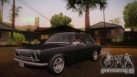Datsun 510 RB26DETT Black Revel для GTA San Andreas вид изнутри