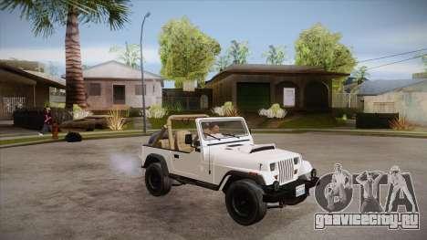 Jeep Wrangler V10 TT Black Revel для GTA San Andreas вид сбоку