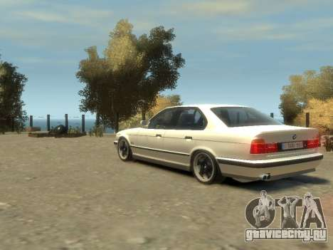 BMW M5 E34 для GTA 4 вид изнутри