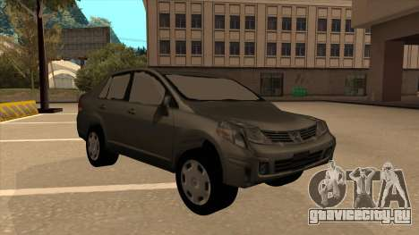 Nissan Tiida sedan для GTA San Andreas вид слева