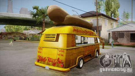 Hot Dog Van Custom для GTA San Andreas вид справа