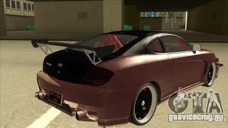 Hyundai Tiburon Coupe Tuning для GTA San Andreas вид справа