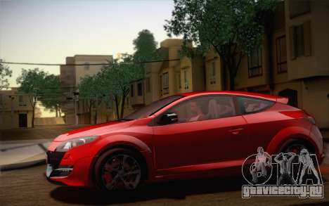 Renault Megane RS Tunable для GTA San Andreas двигатель