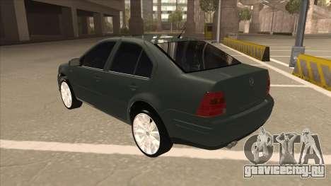 Jetta 2003 Version Normal для GTA San Andreas вид сзади