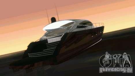 Cartagena Delight Luxury Yacht для GTA Vice City вид изнутри