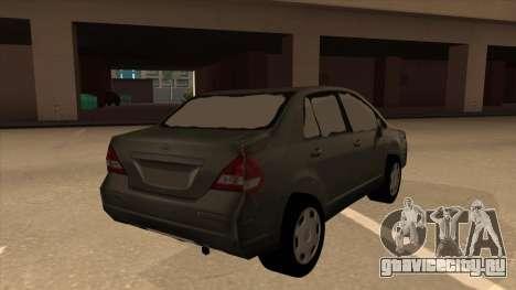 Nissan Tiida sedan для GTA San Andreas вид справа