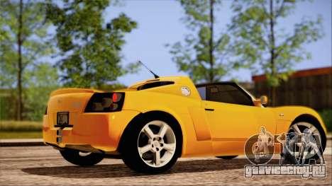 Opel Speedster Turbo 2004 для GTA San Andreas салон