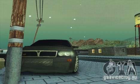 Lancia Delta HF Integrale для GTA San Andreas вид снизу