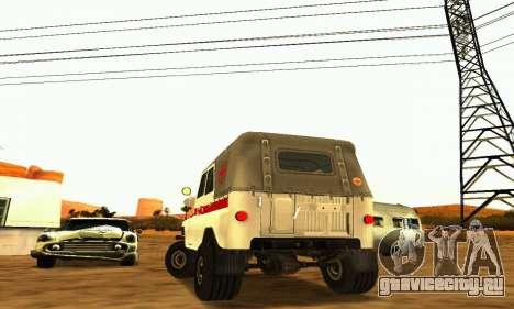 УАЗ 469 Скорая Помощь для GTA San Andreas вид справа