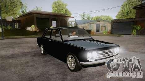Datsun 510 RB26DETT Black Revel для GTA San Andreas вид сзади