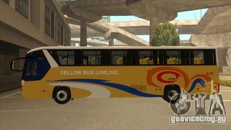 Yellow Bus Line A-29 для GTA San Andreas вид сзади слева