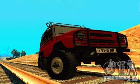 УАЗ 31514 6x6 для GTA San Andreas вид сзади