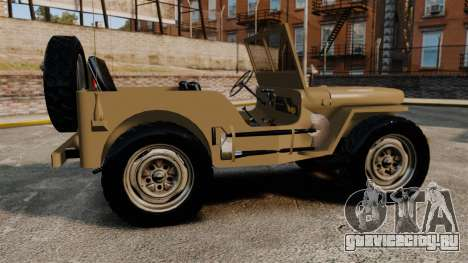 Willys MB для GTA 4 вид слева