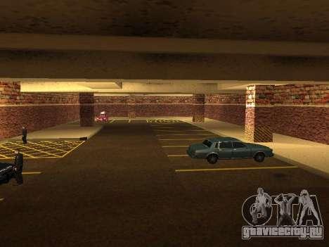 Новый интерьер подземного гаража полиции ЛС для GTA San Andreas пятый скриншот