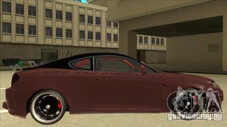 Hyundai Tiburon Coupe Tuning для GTA San Andreas вид сзади слева