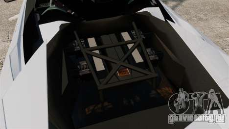 Lamborghini Reventon Roadster 2009 для GTA 4 вид изнутри