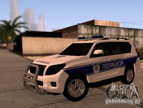 Toyota Land Cruiser POLICE для GTA San Andreas