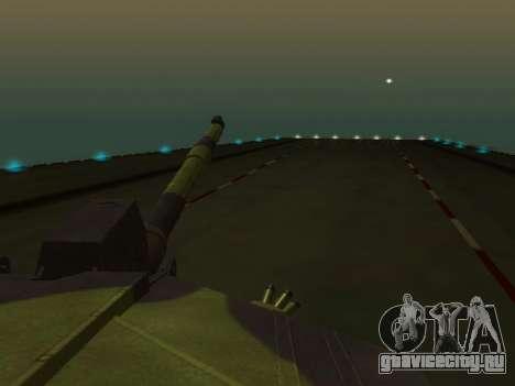 Challenger 2 для GTA San Andreas вид изнутри