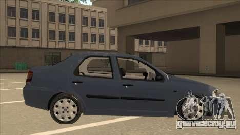 Fiat Siena Ex для GTA San Andreas вид сзади слева