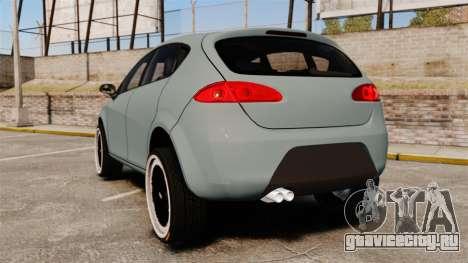 Seat Leon Gtaciyiz для GTA 4 вид сзади слева