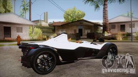 BAC Mono 2011 для GTA San Andreas вид справа