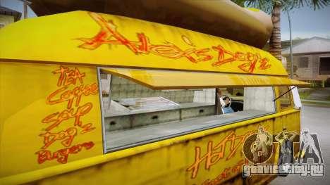 Hot Dog Van Custom для GTA San Andreas вид сбоку
